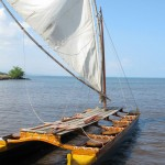 Hawaiian Double Hulled Canoe