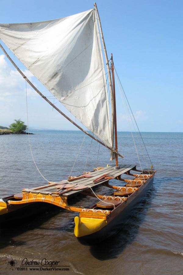 Hawaiian Double Hulled Canoe