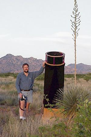 Deep Violet set up neat the Dragoon Mountains in Southern Arizona