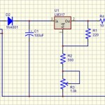 Red LED Lamp 12V Schematic