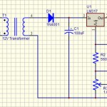 Red LED Lamp 120Vac Schematic