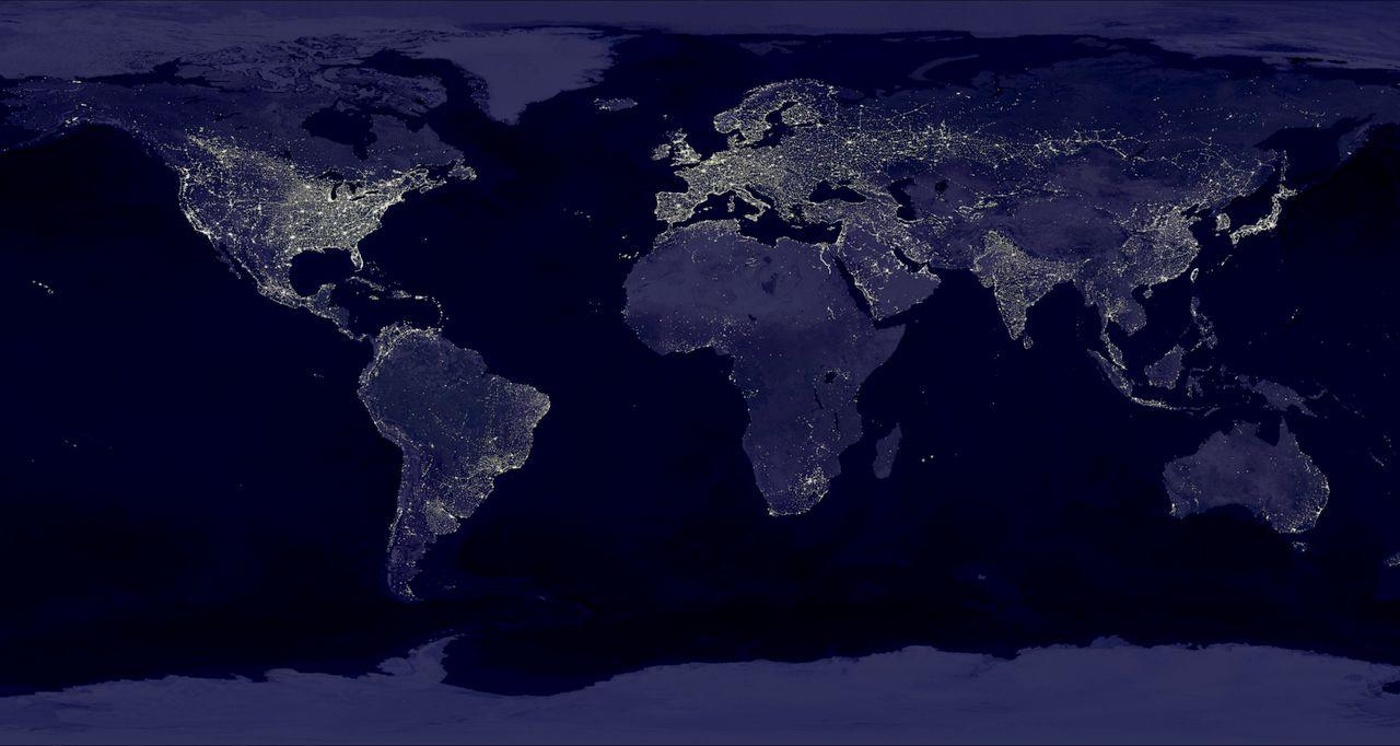 night light footprint north america nasa - photo #32