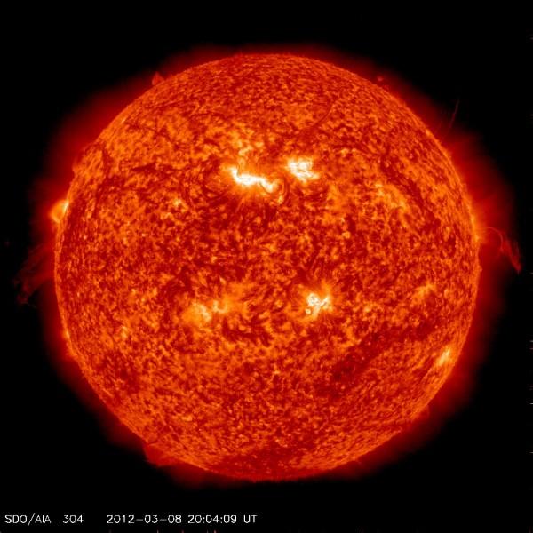 Sun at 304nm