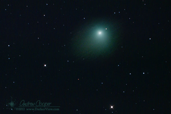 Comet C/2009 P1 Garradd taken on 28Mar2012, average of 14 x 8min frames with a Canon 20Da and the AT6RC