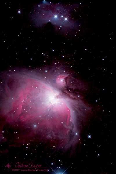 NGC1976 or M42, the Great Orion Nebula, taken with the Canon 20Da and a AT6RC telescope.