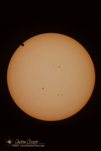Transit of Venus 2012, second contact at 12:27pm