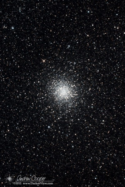 M22 or NGC6656 in Sagittarius, a classic globular cluster, AT6RC and Canon 60D 20x4min @ ISO2000