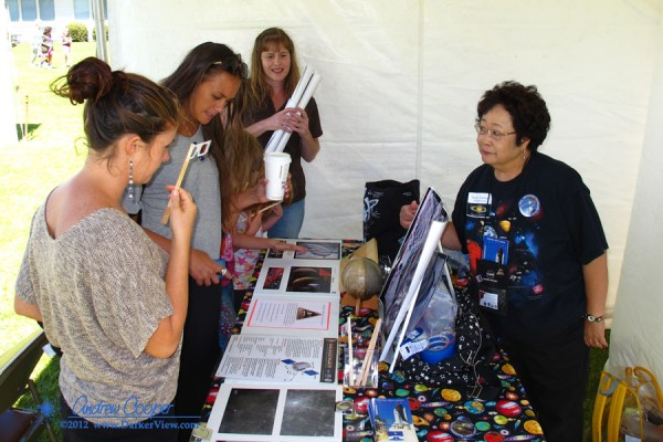 Nancy answers questions about Mercury at the 2012 Waimea Planet Walk