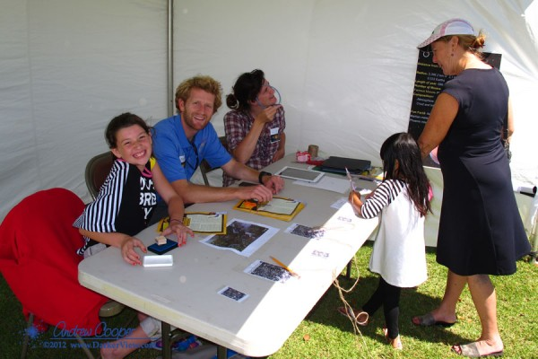 Volunteers answer questions about Mars at the 2012 Waimea Planet Walk