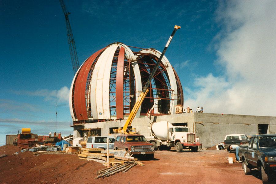 Keck 1 Construction 1987