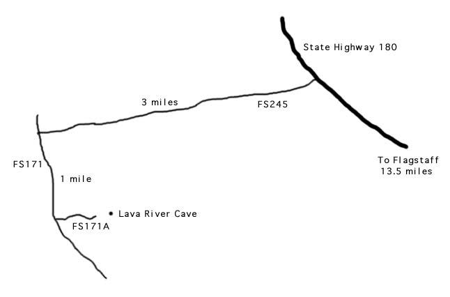 Lava River Cave Map