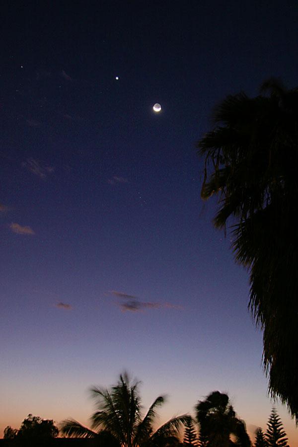 e Moon, Venus and Aldebaran
