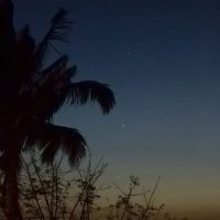 Mercury, Venus and Jupiter