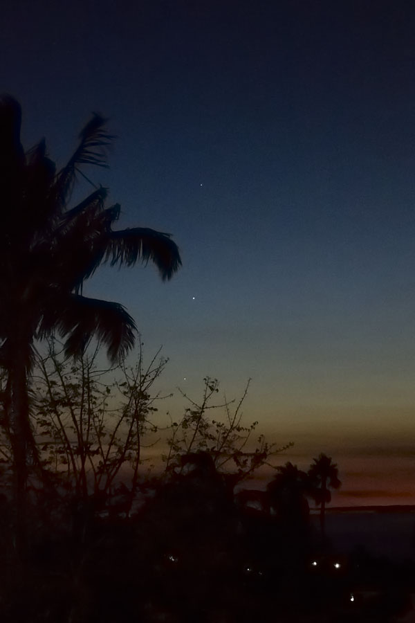 Mercury, Venus and Jupiter