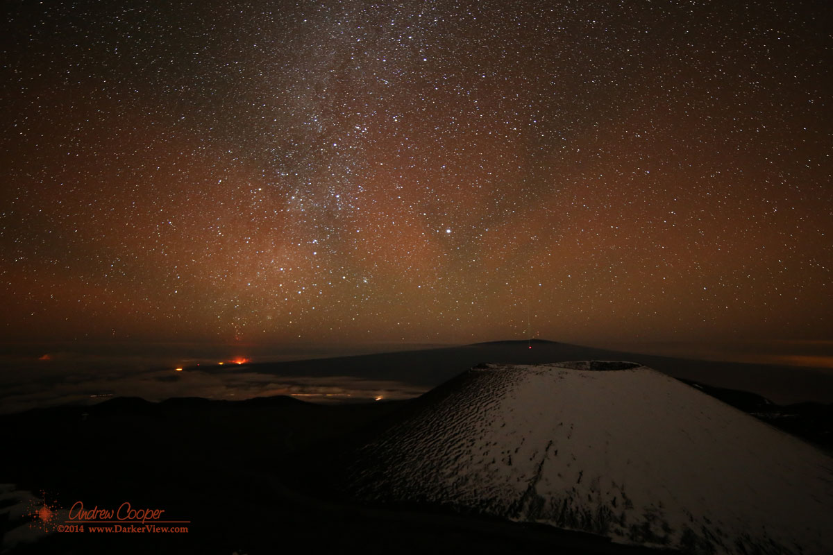 Airglow or auroral glow?