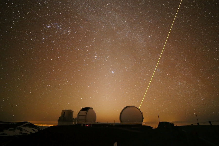 Zodiacal Light Over Keck