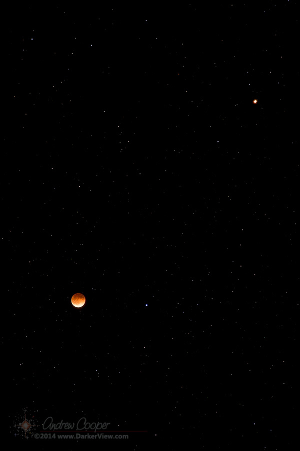 Total Lunar Eclipse and Mars
