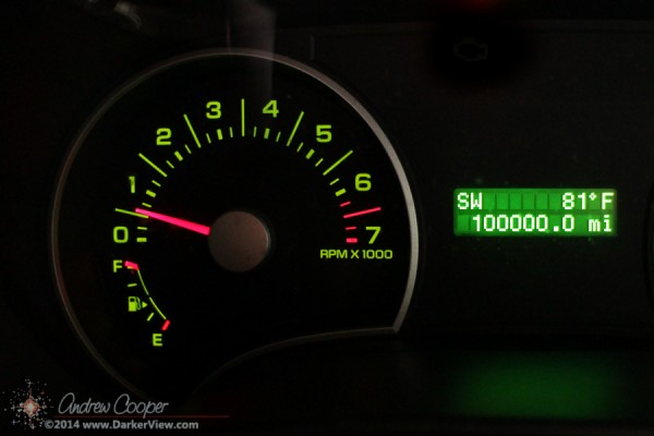 Odometer at 100,000