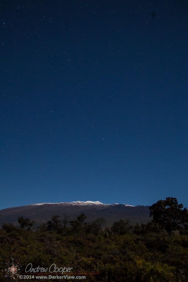 Mauna Kea Snow Under Moonlight