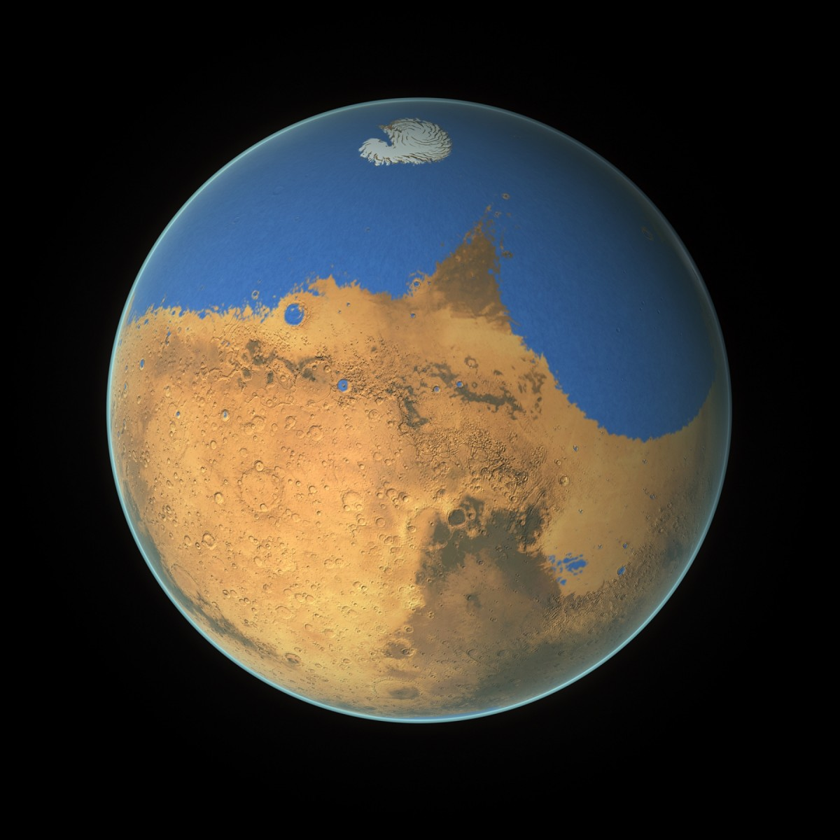 Mars with Oceans