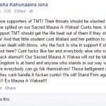 Iona Facebook Post