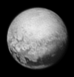 Tantalizing signs of geology on Pluto are revealed in this image from New Horizons taken on July 9, 2015 from 3.3 million miles (5.4 million kilometers) away.  Credit: NASA/Johns Hopkins University Applied Physics Laboratory/Southwest Research Institute