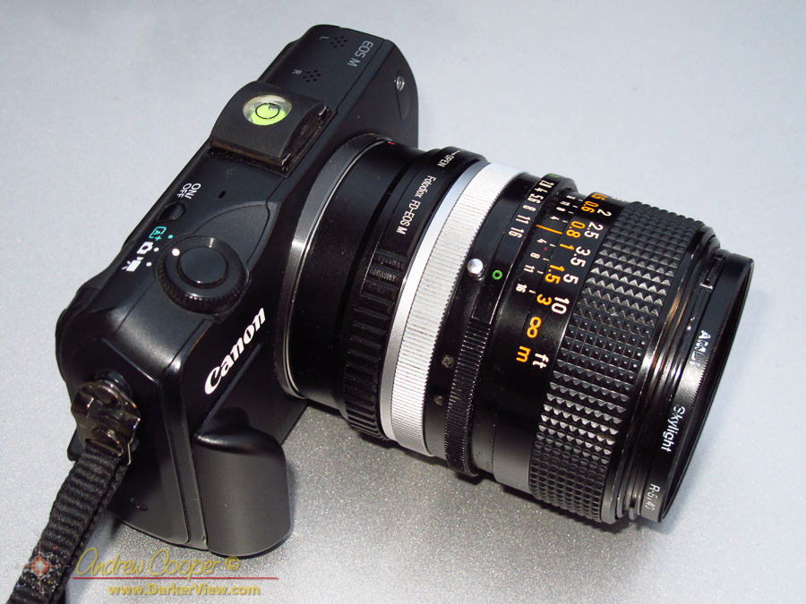 EOS-M with Canon 24mm f/2 8 FD – A Darker View