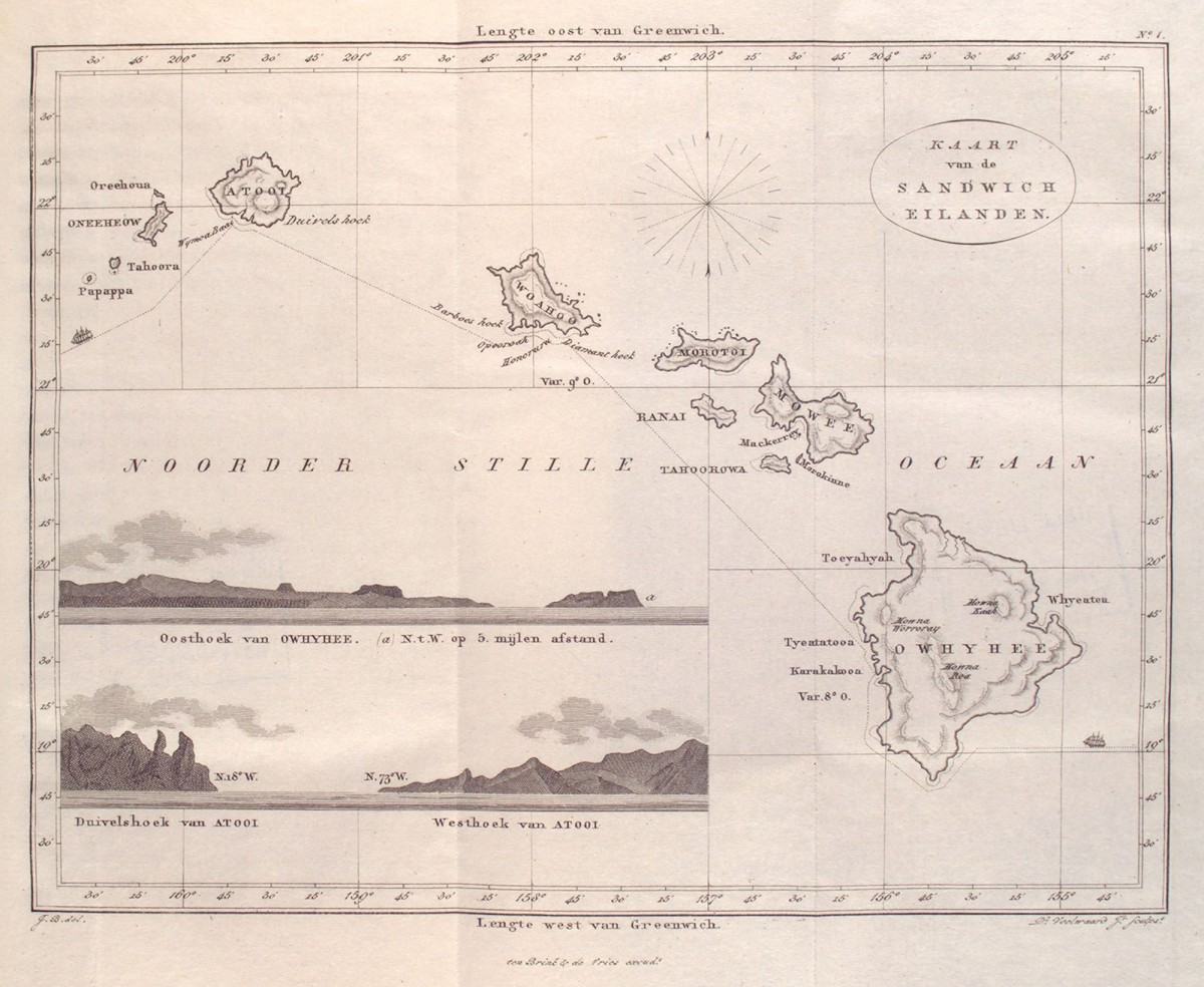 Map of the Hawaiian Islands 1835