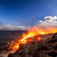 61G lava flow ocean entry