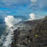 The 61G lava flow ocean entry at Kamokuna