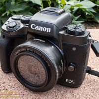 The Canon EOS M5 and the 22mm f/2 EF-M lens