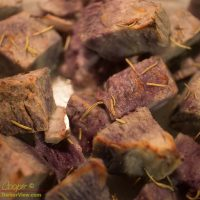 Par-boiled and broiled Okinawan sweet potato