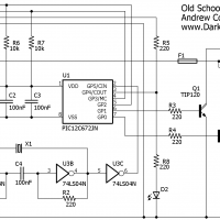 An old-school telescope drive corrector schematic