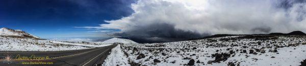 Mauna Kea Snow Panorama