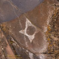 Eclipse Petroglyph at Horsethief Lake