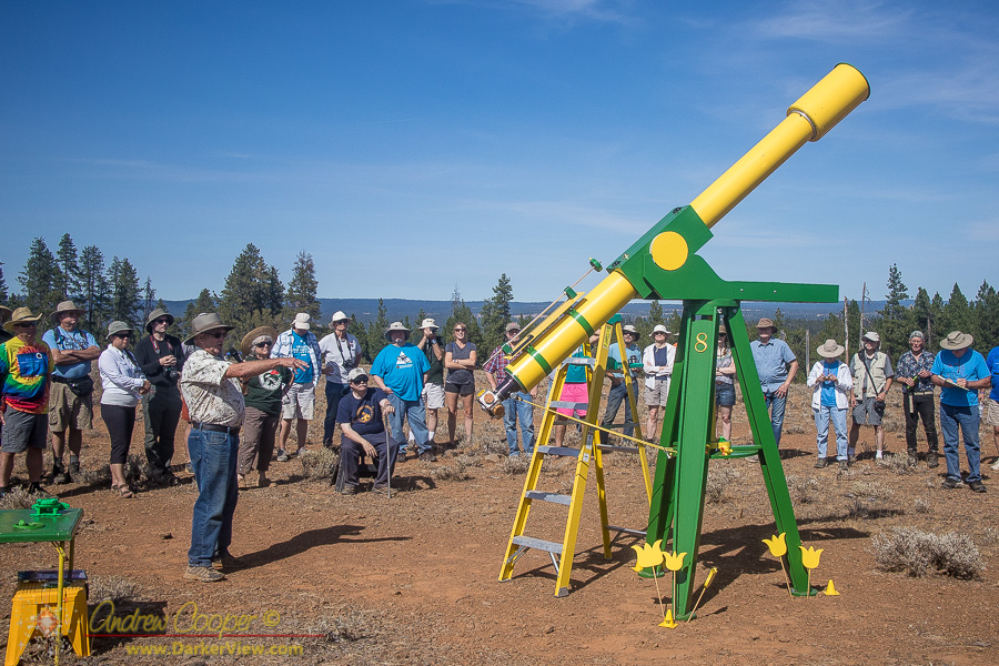 "Kreig McBride's shows off his classic 8"" refractor at OSP 2017"