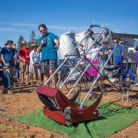 """Sameer Ruiwale discusses his newly built 16"""" F/4 tensegrity telescope"""