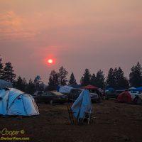 Smoky Sunset at OSP