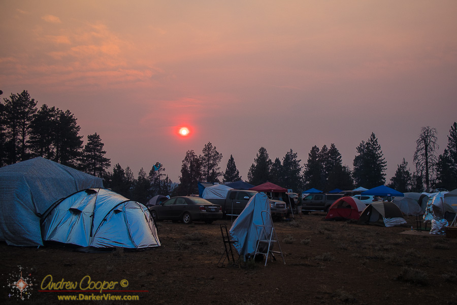 Smoky Sunset at OSP