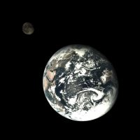 Chang'e 5 Earth and Moon