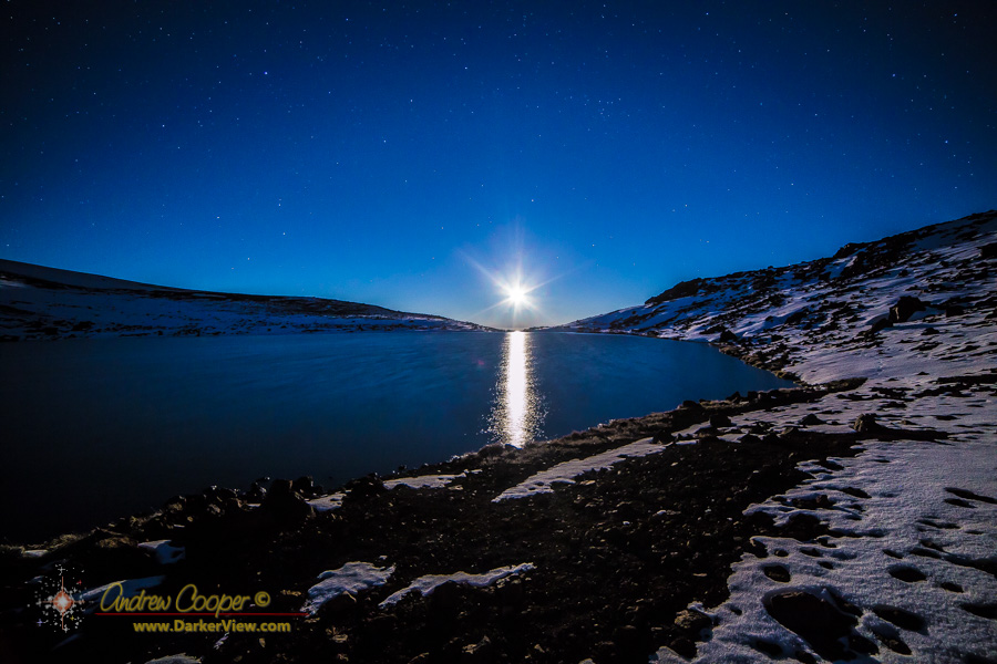 Moonset Over Lake Waiau