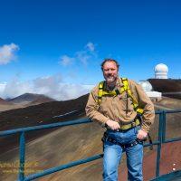 Andrew Cooper atop Keck 2