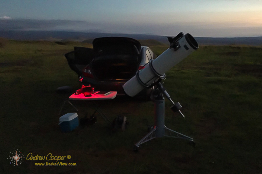 """The 8"""" Cave Astrola setup at Kaʻohe"""