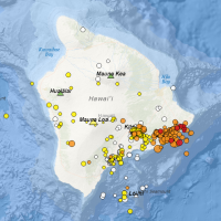 USGS Earthquake Map for 1May2018