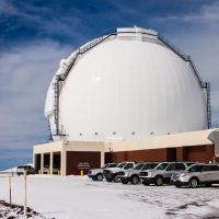 A few inches of snow do not prevent the Keck Observatory day crew from going to work