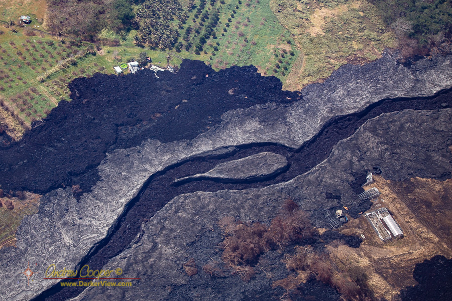 A channelized lava flow above Mackenzie State Recreation Area
