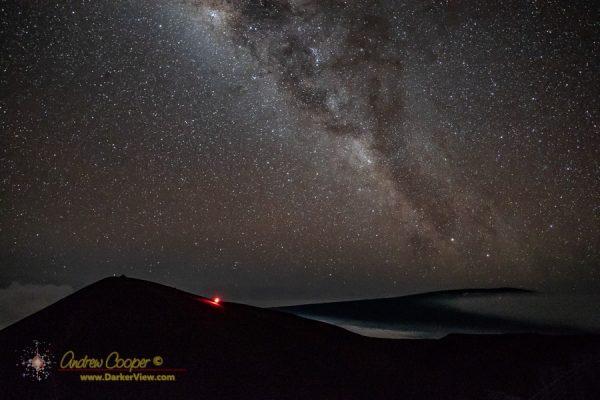The Milky Way over the summit of Mauna Kea