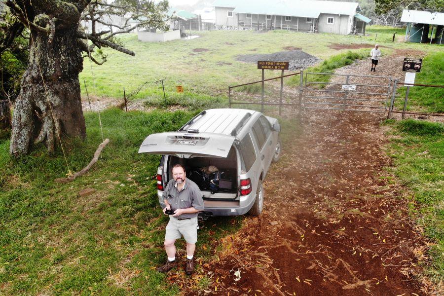 Flying the Mavic at Keanakolu
