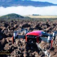 Flying the DJI Mavic Air in the saddle at the base of Mauna Kea