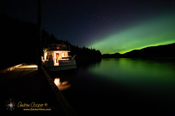 The Nordic Quest Under Aurora at Helm Bay